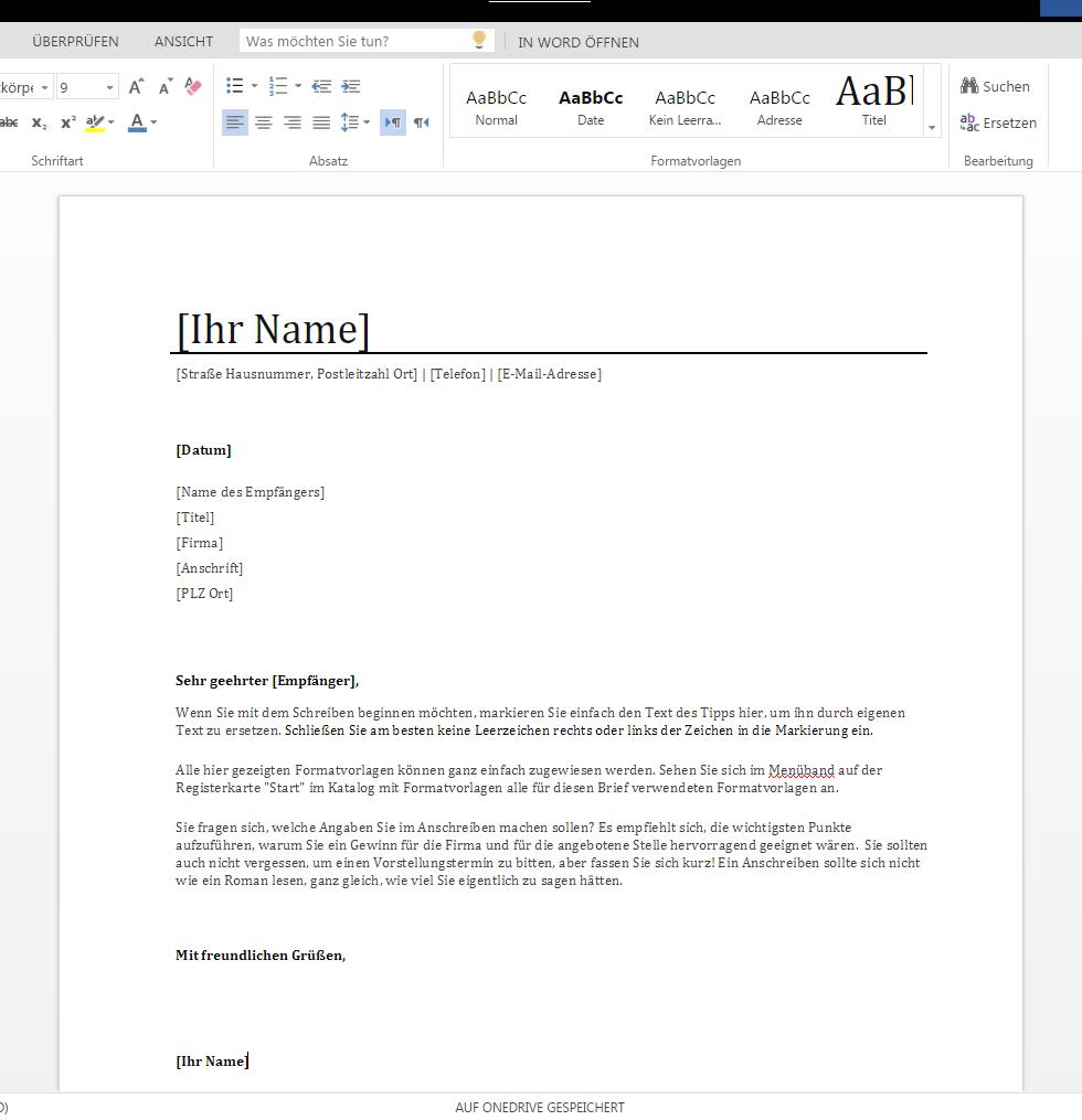 anschreiben bewerbung 1 - Bewerbung Anschreiben E Mail