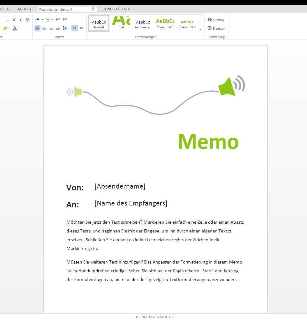 Individuelle Memo Vorlagen auf Wordvorlage.de