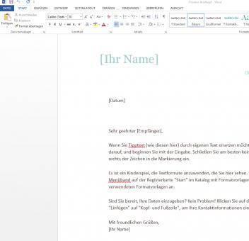 Brief Vorlagen Zum Runterladen Bei Wordvorlagede