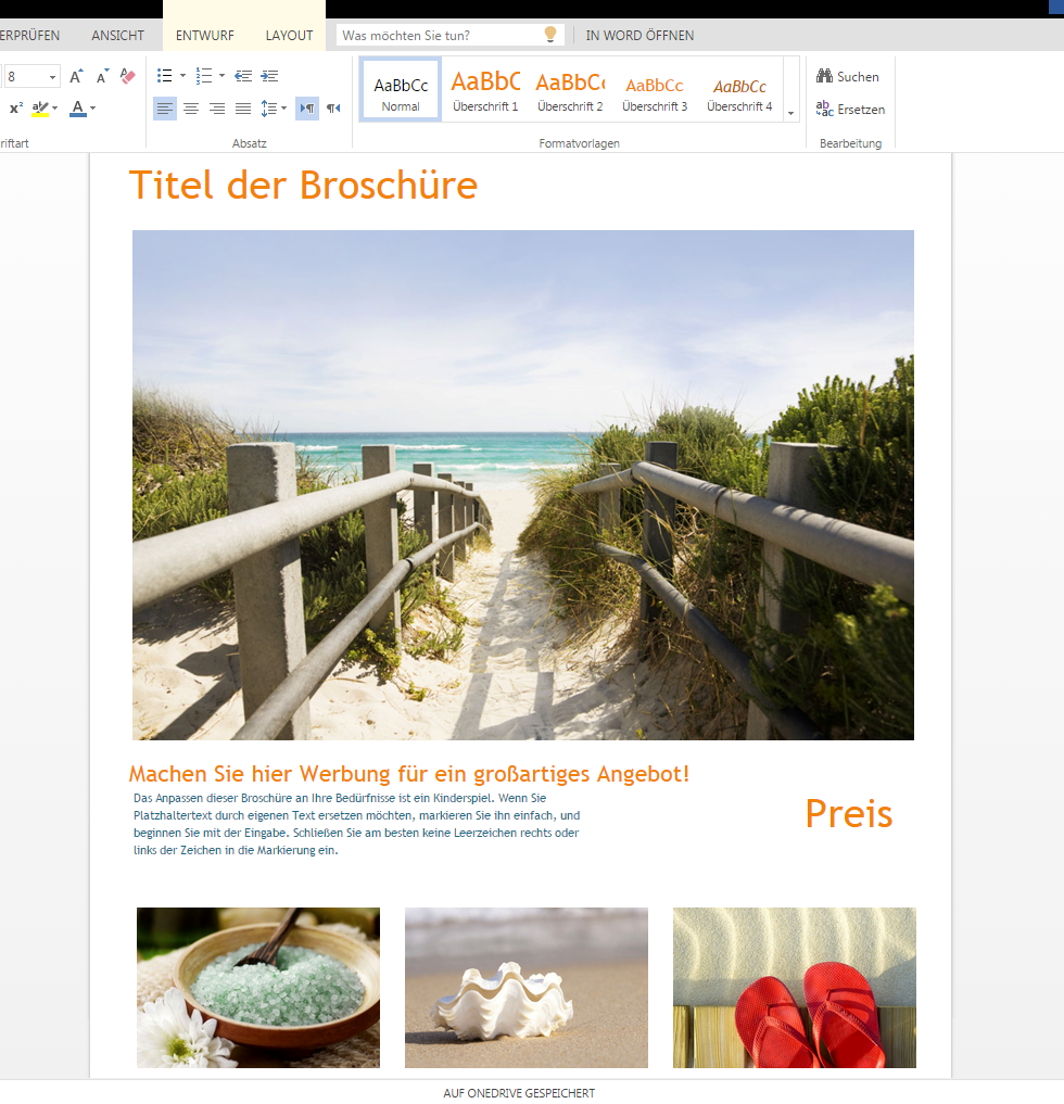 Reisebroschüre zum Downloaden – Wordvorlage.de