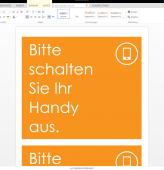 Poster Handy ausschalten orange